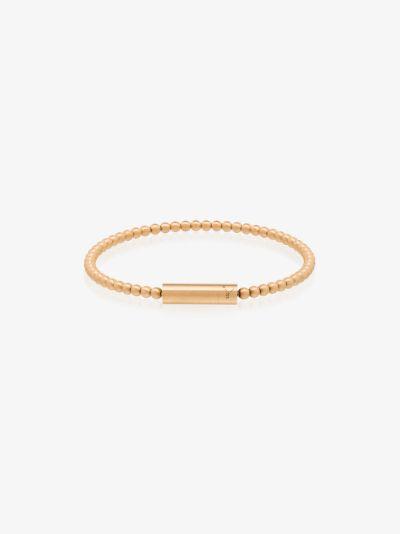 18K yellow gold Le 15g beaded brushed bracelet