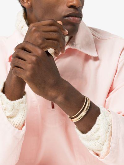 18K yellow gold Le 21g Ribbon polished bracelet