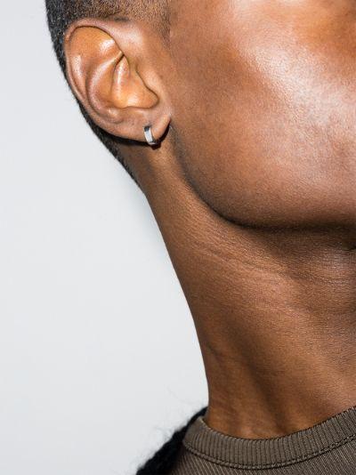 sterling silver La 1.1g Ribbon polished hoop earring
