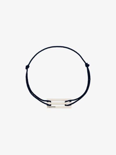 sterling silver Le 2.5g cord bracelet