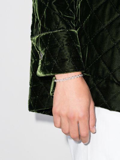 sterling silver Le 21g Entrelacs polished bracelet