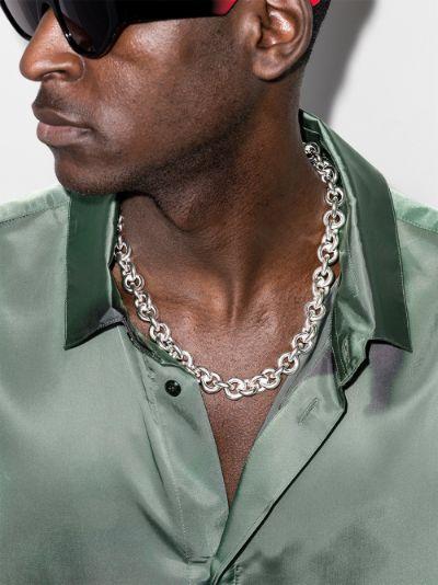 sterling silver Le 253g entrelacs polished necklace