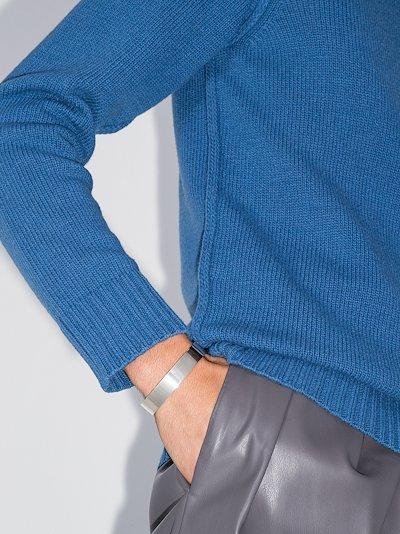 sterling silver le 41g ribbon polished bracelet