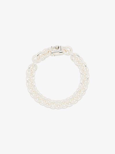 sterling silver Le 65g Entrelacs polished bracelet