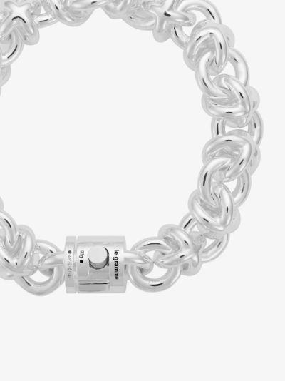 Sterling Silver Le 87g Entrelacs Polished Bracelet