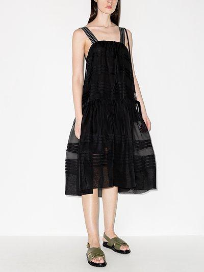 andes pleat organza apron dress