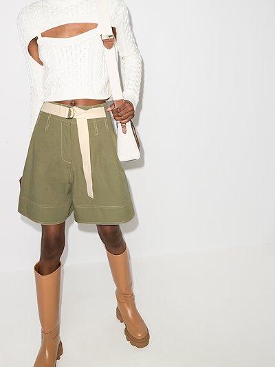 Birder high waist belted shorts
