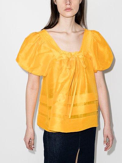 Canary tucked top