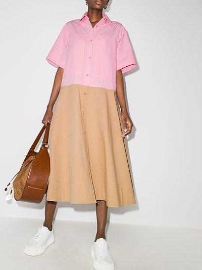 May colour block shirt dress