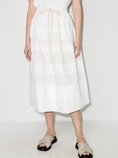 Robin pleated cotton midi skirt