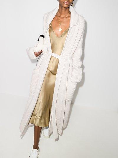 V-neck silk slip dress