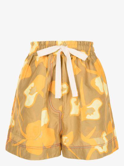 Wren floral drawstring shorts