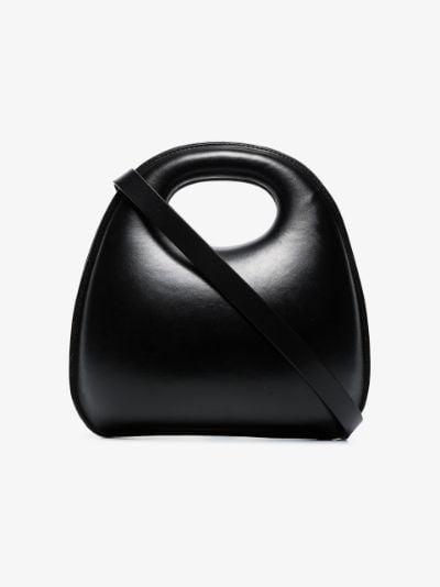 black Egg hard leather tote bag
