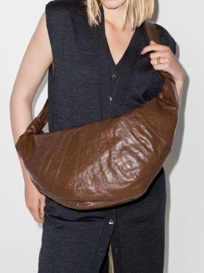 Brown Croissant large shoulder bag
