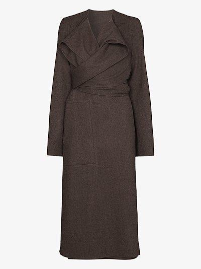 Coa wrap wool coat