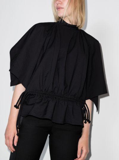 Foulard drawstring waist top