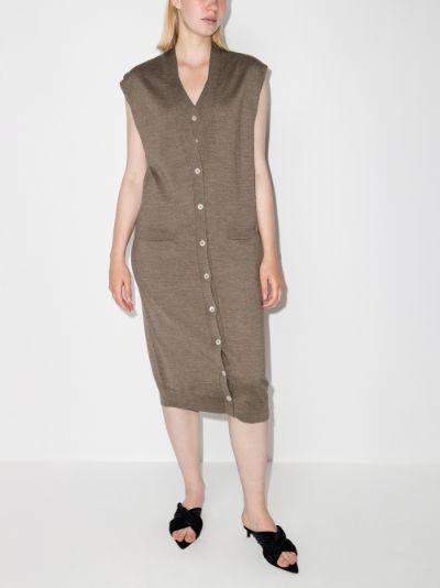 layered cardigan dress