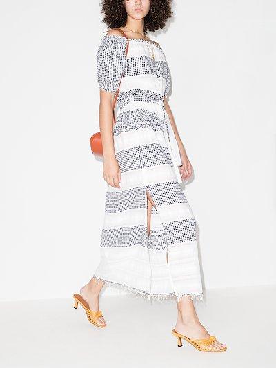 Selamawi patterned cotton midi dress