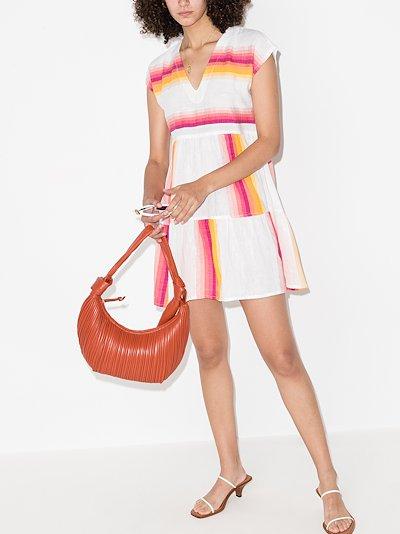 Teref striped cotton kaftan dress