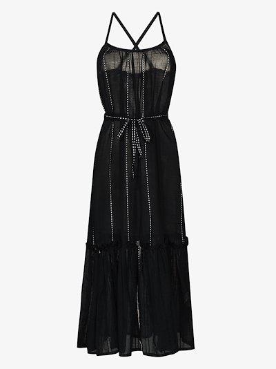 Tikuri belted cotton midi dress