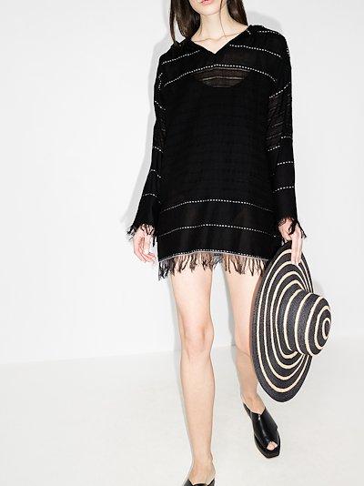 Tikuri hooded cotton kaftan dress