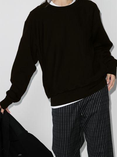 brushed cotton crew neck sweatshirt