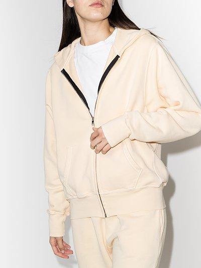 brushed cotton zip-up hoodie
