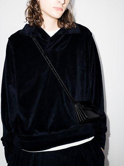 camp collar sweatshirt