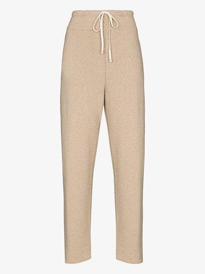 cashmere drawstring track pants