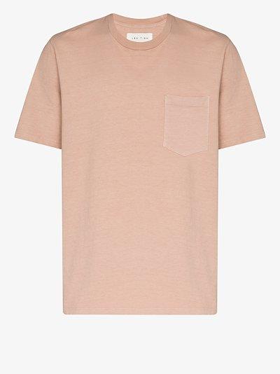 chest pocket cotton T-shirt