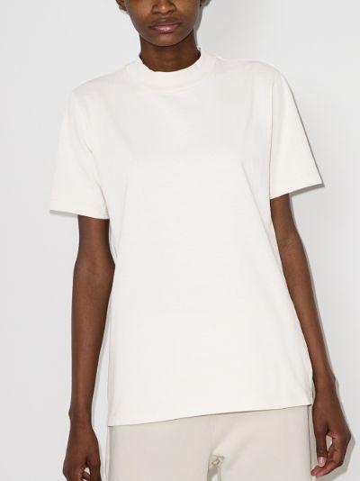 cotton mock neck T-shirt