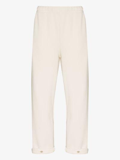 snap front cotton track pants