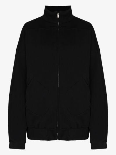zip-up cotton jacket