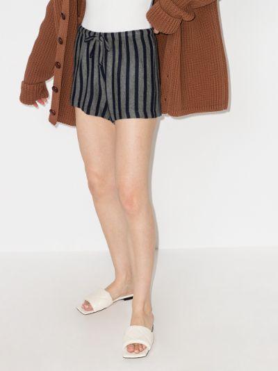 Lori striped drawstring shorts