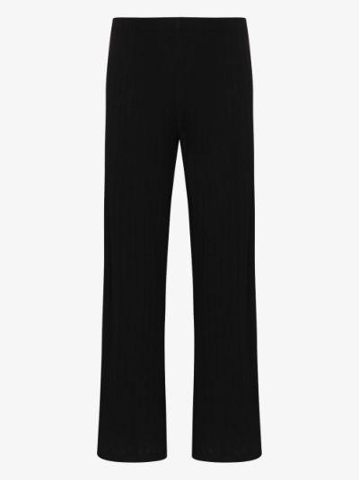 pointelle burnout trousers