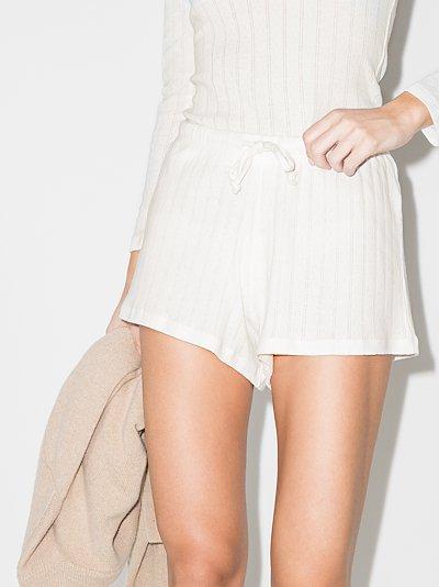 pointelle drawstring shorts