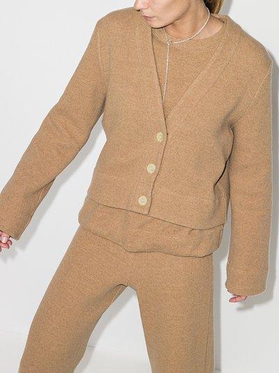 Sierra boxy wool cardigan