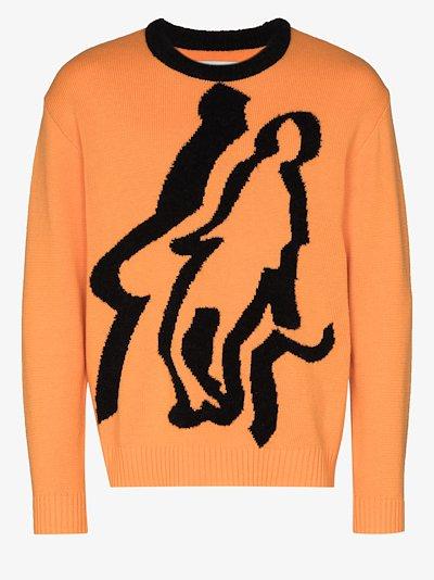 burns logo sweater