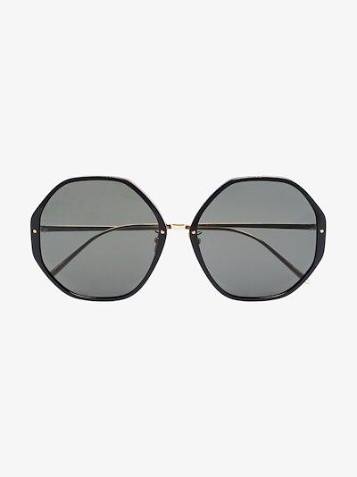 22K gold-plated Alona round sunglasses