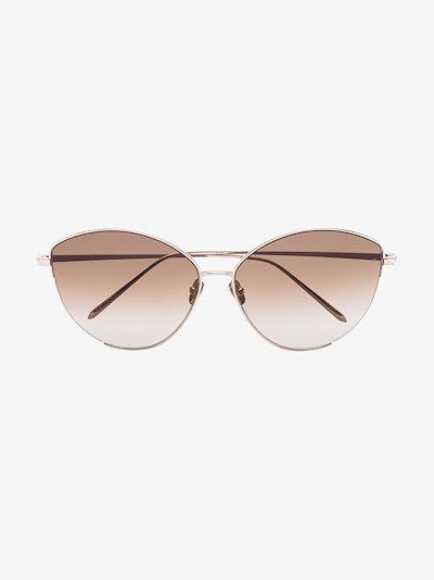 22K gold-plated Ella cat eye sunglasses