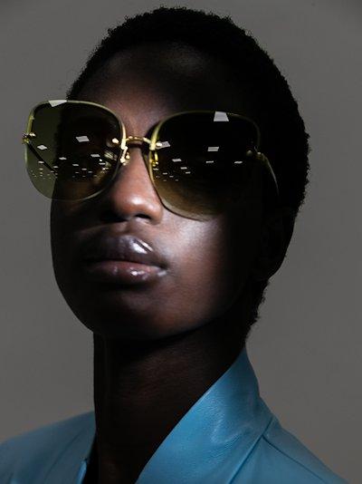 22K gold-plated Loni sunglasses