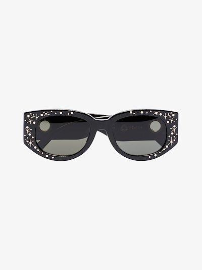 Black Debbie D-Frame sunglasses