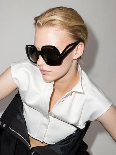 black Renata oversized square sunglasses