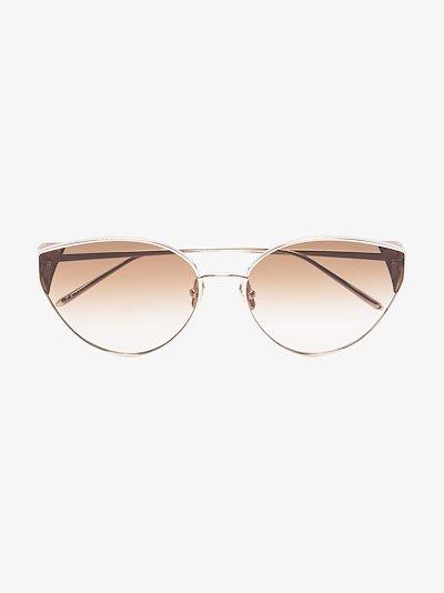 gold-plated Liv sunglasses