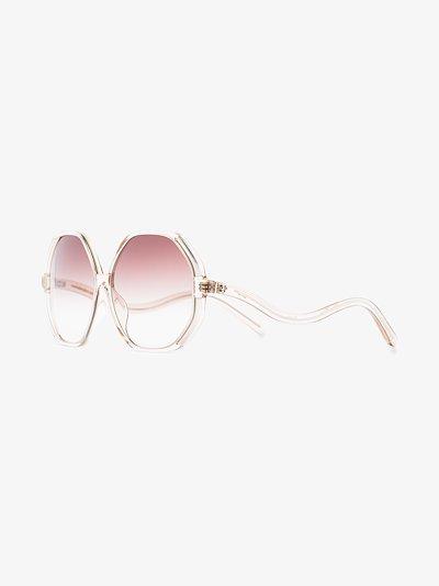 gold-plated Una sunglasses