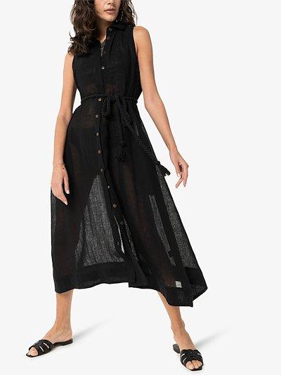 Alison organic linen shirt dress