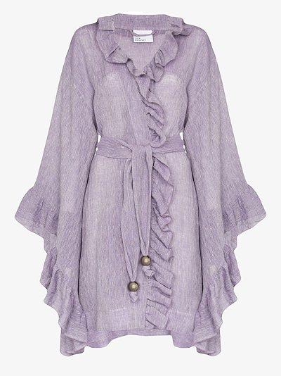 Anita ruffled robe jacket