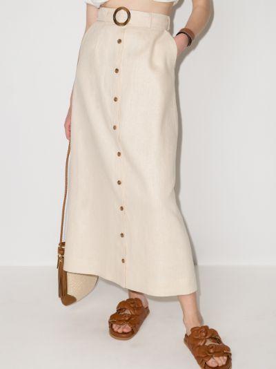 buttoned High waist maxi skirt