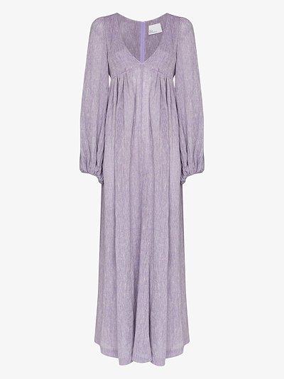 Carolyn V-neck cotton maxi dress