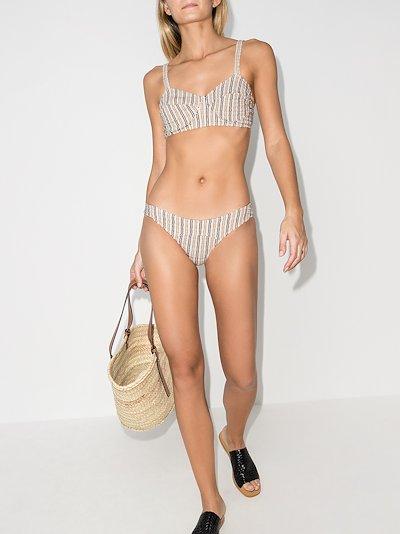 Goldwyn striped seersucker bikini